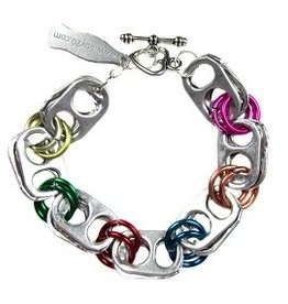Upavim Crafts Recycled Can Tab Bracelet