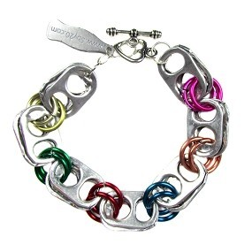 Upavim Crafts Recycled Can Tab Bracelet