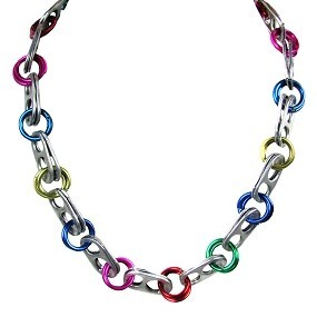 Upavim Crafts Recycled Can Tab Necklace