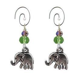 Unique Batik elephant charm earrings