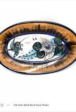 Lucia's Birds Oval Plate