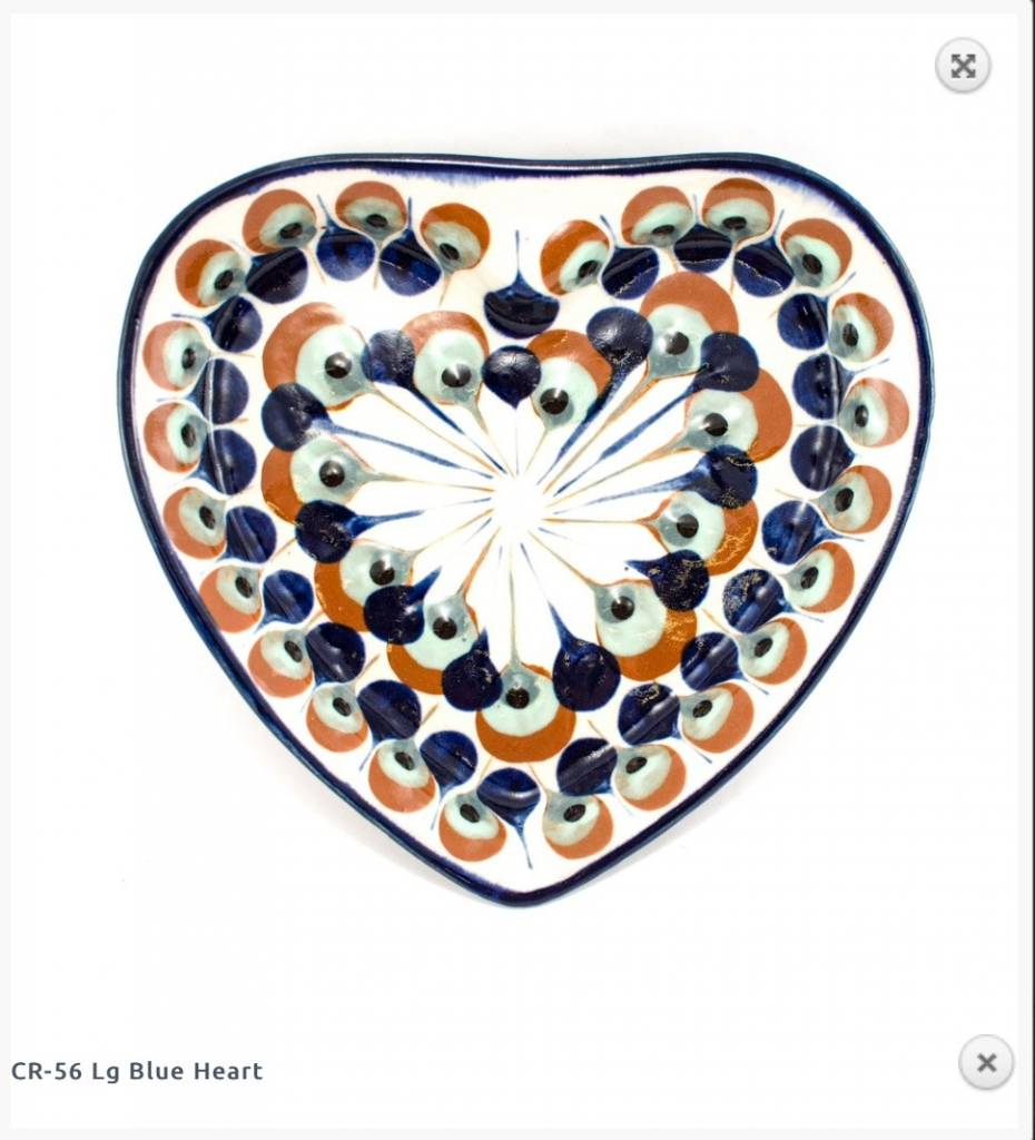 Lucia's Large Heart Dish