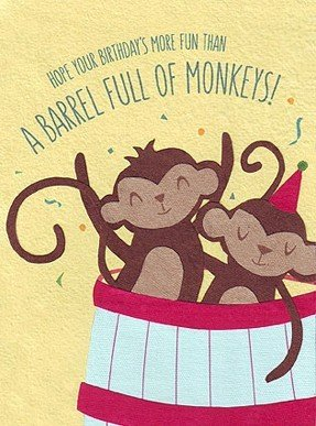 Good Paper Barrel of Monkeys