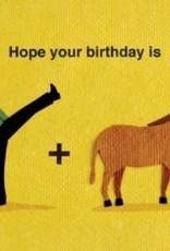 Good Paper Kick Donkey Birthday