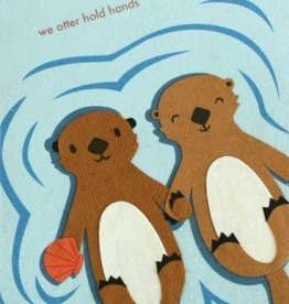 Good Paper Otter Hold Hands