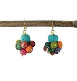 WorldFinds Kantha Drop Earrings