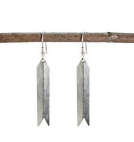 WorldFinds Arrow Earrings - Silver