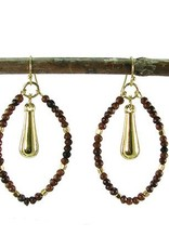WorldFinds Wood Marquise Earrings
