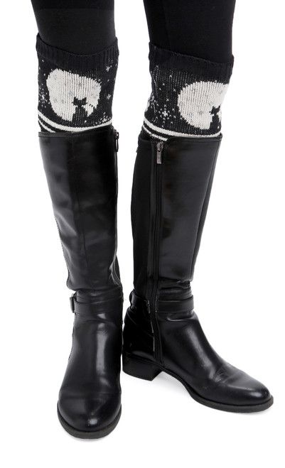 Green 3 Apparel Cat Moon Boot Cuff