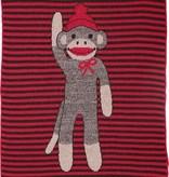 Green 3 Apparel Sock Monkey Stripe Jr Throw
