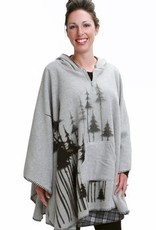 Green 3 Apparel Shadow Trees Polar Poncho