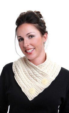 Green 3 Apparel Natural Cotton Cable Neckwarmer