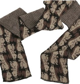 Green 3 Apparel Repeating Squirrel Scarf