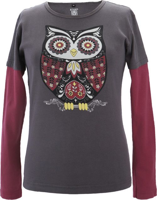 Green 3 Apparel Retro Owl