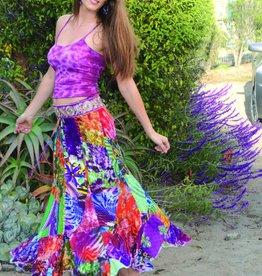 Jayli Rayon Patchwork Long Skirt