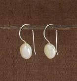 WorldFinds Mother of Pearl Pastille Drop Earrings