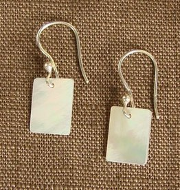 WorldFinds Mother of Pearl Rectangle Earrings