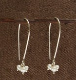 WorldFinds Petite Pearl Trio Earrings
