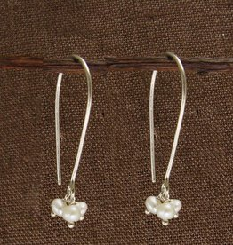 WorldFinds Petite Pearl Trio Earrings