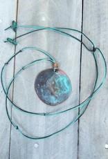 Ezra and India Copper Circle Patina Necklace