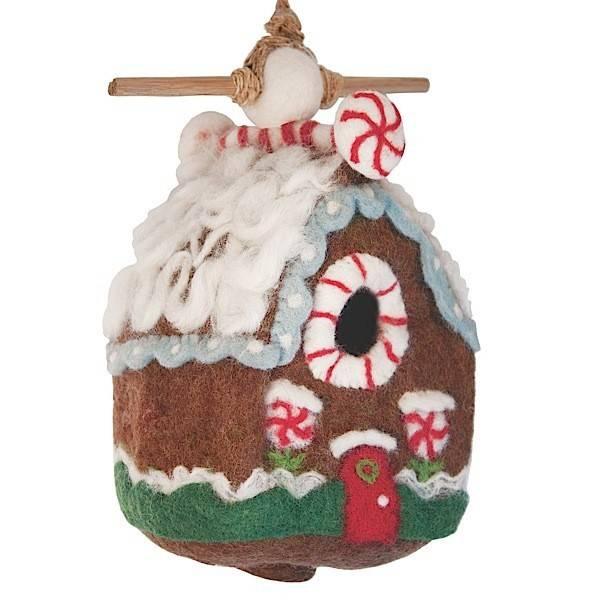 dZi Gingerbread chalet birdhouse