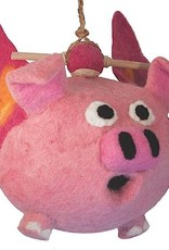 dZi Flying pig birdhouse