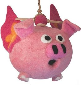 dZi Flying pig birdhouse