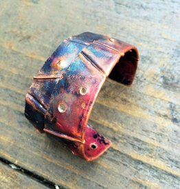 Ezra and India Flame Painted Copper Cuff