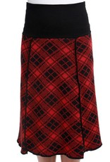 Green 3 Apparel Plaid 4-panel Skirt