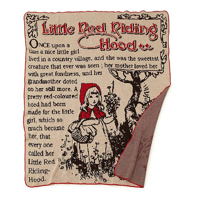 Little Red Riding Hood Throw Blanket Daiseye Interesting Grandmother Throw Blanket