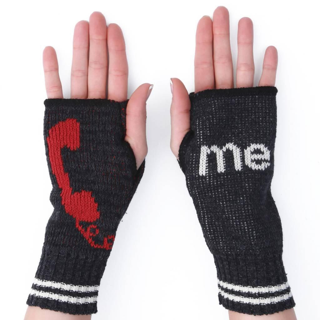 Green 3 Apparel Call Me Handwarmers Charcoal