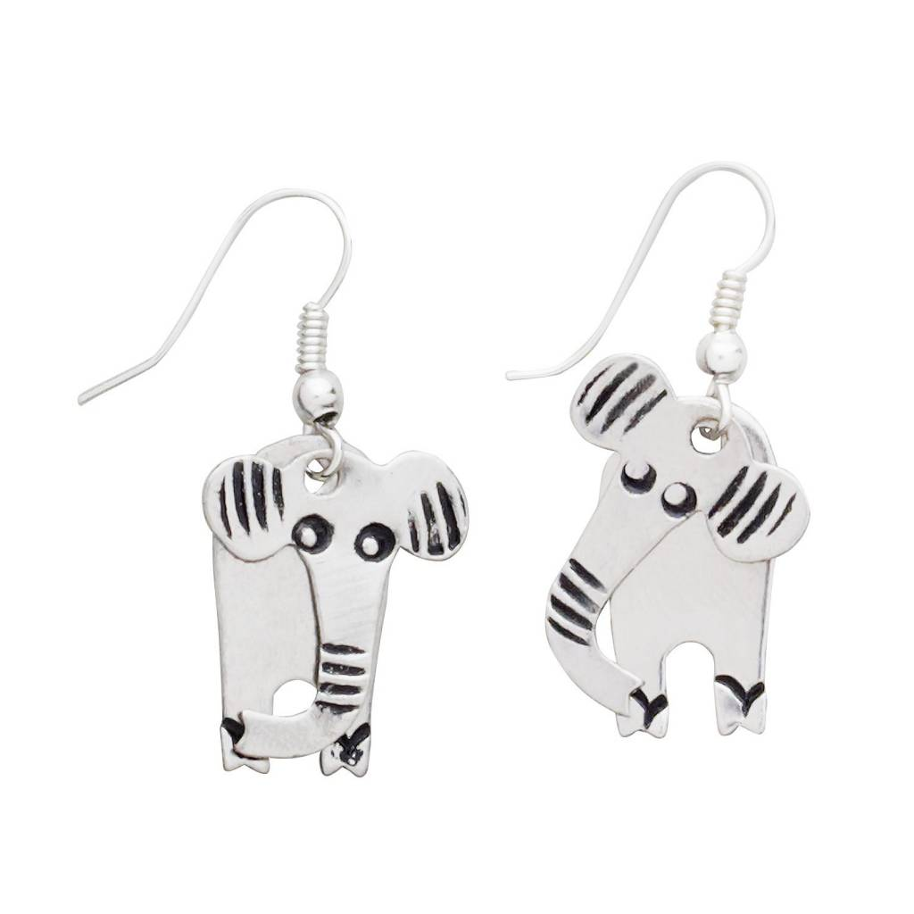 Ten Thousand Villages Jointed Elephant Earrings