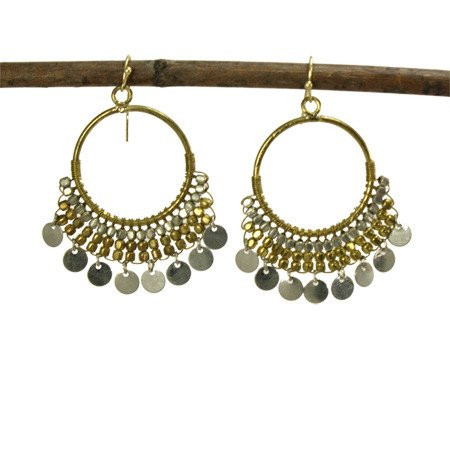 WorldFinds Dripping Disc Earrings