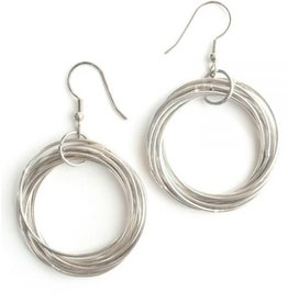 Mata Traders Connected Hoop Earrings