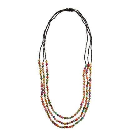 WorldFinds Kantha Triple Strand Necklace