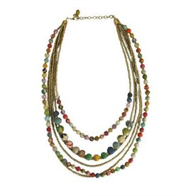 WorldFinds Kantha Gilded Strands Necklace