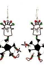 Global Crafts Dancing Girl Soccer Earrings