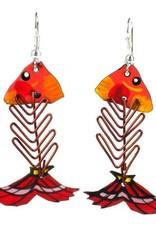 Fish Bone Earrings