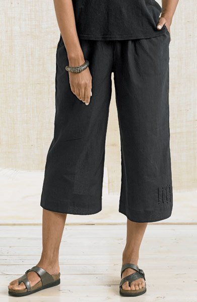 Marketplace Textured Voile Culottes