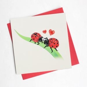 Quilling Card Ladybug