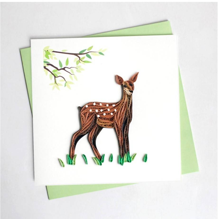 Quilling Card Fawn