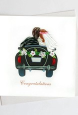 Quilling Card Just Married