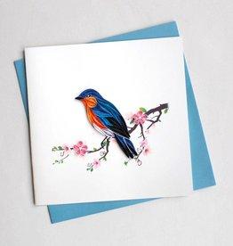Quilling Card Bluebird