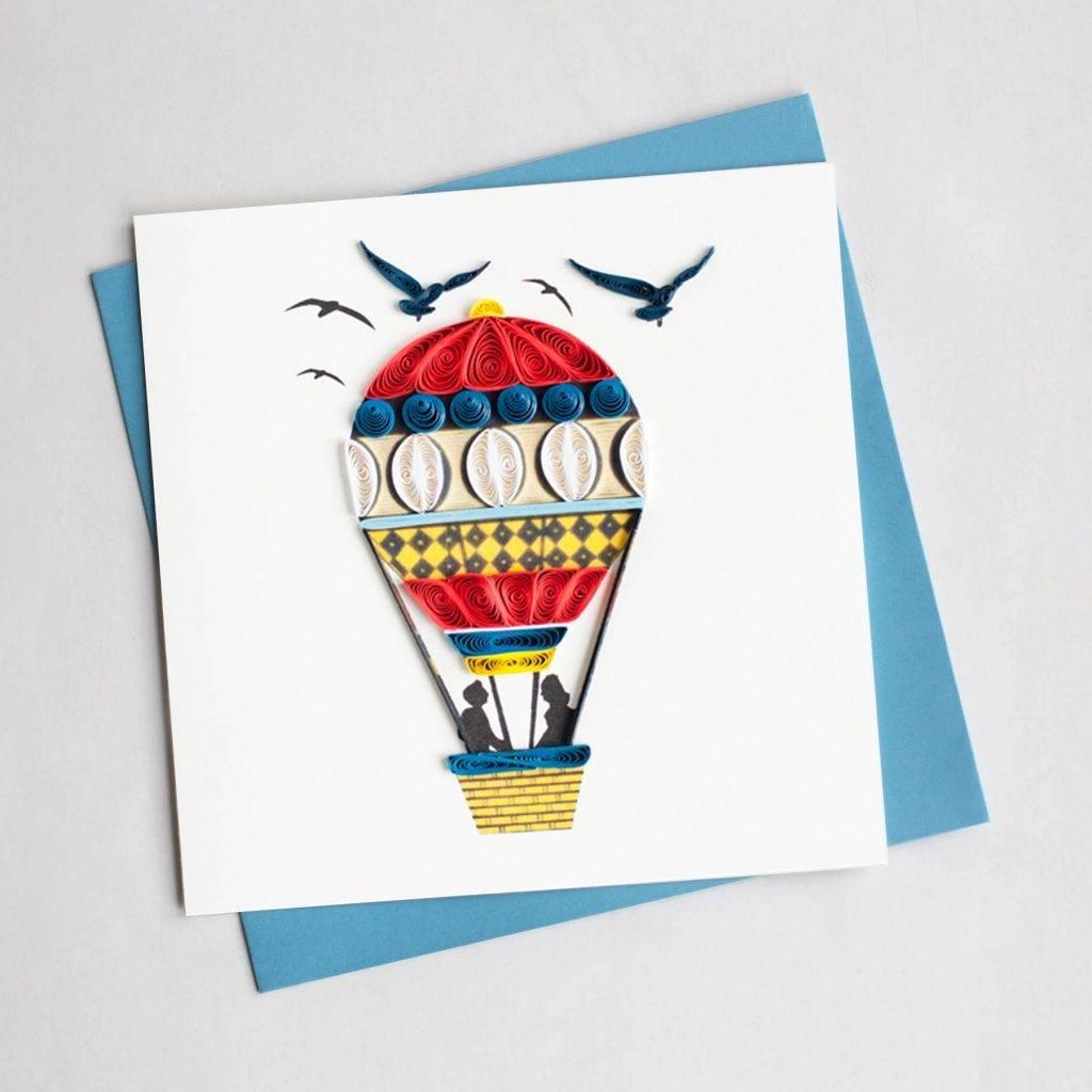 Quilling Card Hot Air Balloon