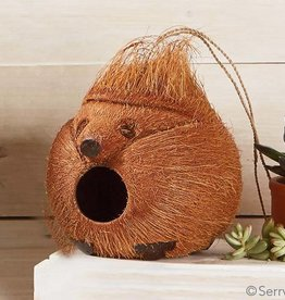 SERRV Hedgehog Coconut Birdhouse