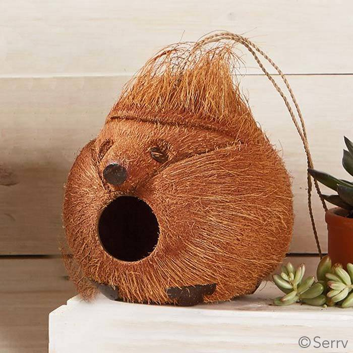 SERRV Hedgehog Coconut Birdhouse