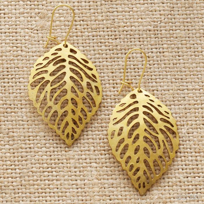 SERRV Leaves Earrings