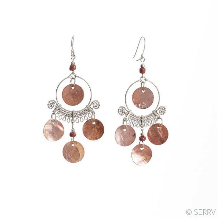 SERRV Coppery Chandelier Earrings