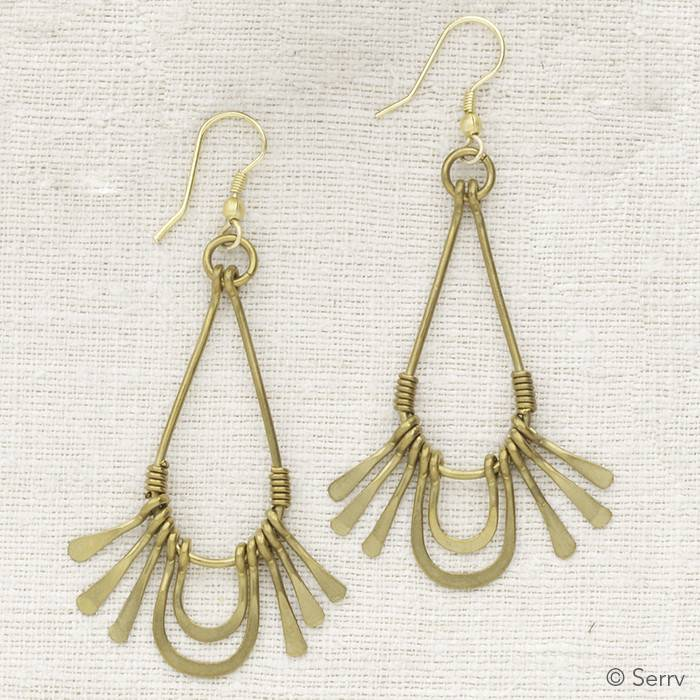 SERRV Golden Rays Earrings