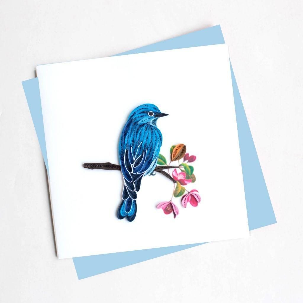 Quilling Card Mountain Bluebird
